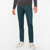 Paul Smith Men's Slim-Fit Dark Green Stretch-Cotton Twill Trousers