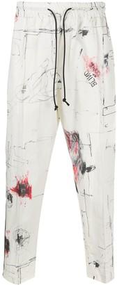Isabel Benenato Drawstring Drop-Crotch Trousers