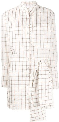 Chloé grid knotted dress