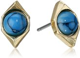 Sam Edelman Double V Stone Stud Earrings