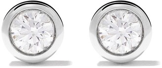 De Beers 18kt white gold My First one diamond stud earrings
