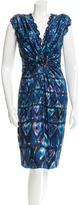 Roberto Cavalli Silk Heart Print Dress