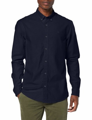 Scotch & Soda Men's Nos Oxford Shirt Relaxed Fit Button Down Collar Casual