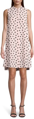 Anne Klein Boomerang Print Trapeze Dress