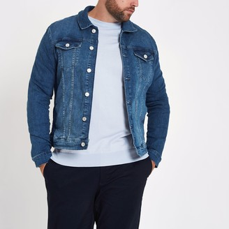River Island Mens Big and Tall Blue denim jacket