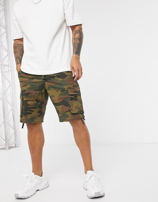 ONLY & SONS cargo shorts in camo