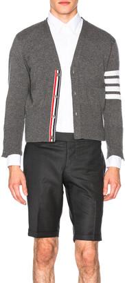Thom Browne Classic Cashmere Cardigan in Medium Grey | FWRD