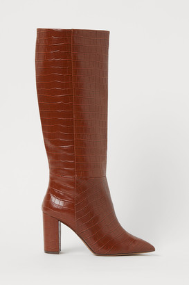 H&M Crocodile-patterned boots