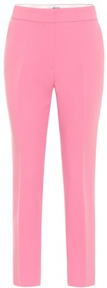 MSGM Mid-rise slim stretch-cady pants