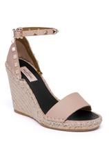 Valentino Garavani Rockstud Espadrille Wedge Sandals