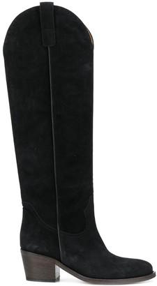 Via Roma 15 Textured Knee-Length Boots