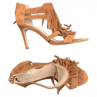 Minelli Camel Suede Sandals