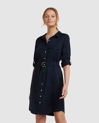 Forever New Portia Belted Shirt Dress