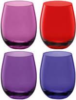 LSA International Coro Water/Wine Tumblers - Set of 4 - Berry Assorted