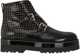Hogan 50mm Studded Brushed Leather Boots