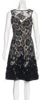 Tracy Reese Floral Lace Flared Dress