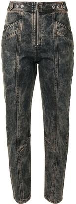 IRO High-Rise Stonewashed Straight-Leg Jeans