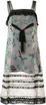 Coach printed lace trim dress - women - Cupro/Silk/Polyamide/Polyester - 0