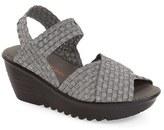Bernie Mev. Women's 'Buttercup' Woven Platform Wedge Sandal