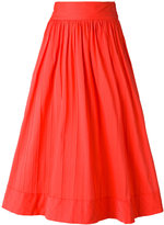 Blumarine pleated skirt - women - Cotton/Polyamide/Spandex/Elastane - 42