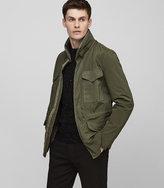 Reiss Reiss Kamakura - Military Jacket In Green, Mens