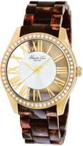Kenneth Cole New York Kenneth Cole Women's Transparency KC4861 Brown Plastic Quartz Watch with Dial