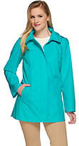 As Is Dennis Basso Water Resistant Jacket w/Circle Print Lining