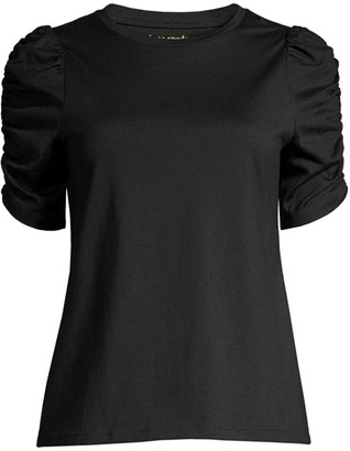 Kate Spade Ruched-Sleeve T-Shirt
