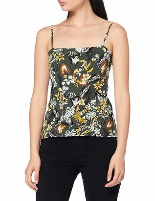 Dorothy Perkins Women's Square Neck CAMI Tropical T-Shirt