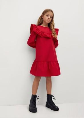 MANGO Off shoulder dress red - 5 - Kids