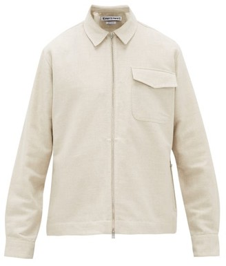 Schnaydermans Cotton And Linen-blend Twill Jacket - Beige