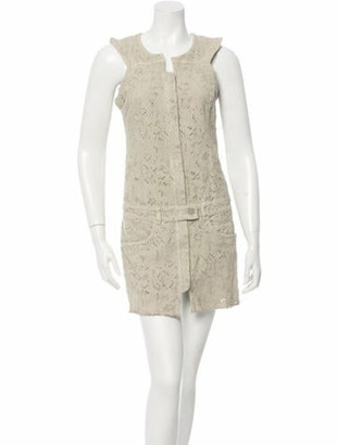 Isabel Marant Sleeveless Patterned Dress w/ Tags green