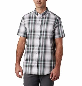 Columbia Men's Big and Tall Rapid Rivers II Short Sleeve Plaid Shirt Comfort Stretch