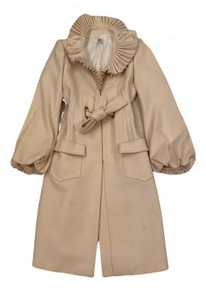 Roberto Cavalli Beige Cashmere Coats