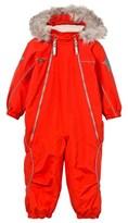 Molo Red Pyxis Snowsuit with Faux Fur Trim