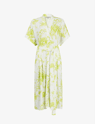 AllSaints Rosin Riyaz floral-print crepe midi dress