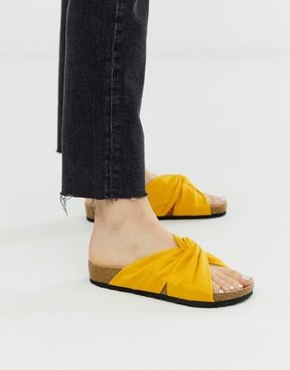 London Rebel flat sandals-Red
