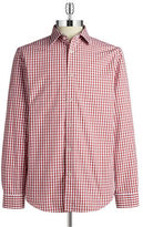 Black Brown 1826 Checkered Cotton Sportshirt