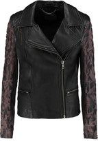 Muu Baa Muubaa Gohana suede-paneled leather biker jacket