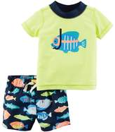 Carter's Baby Boy 2-pc. Fish Rashguard & Swim Trunks Set