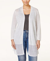 Alfani Plus Size Mesh-Panel Duster Cardigan, Only at Macy's