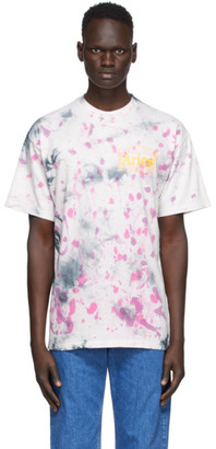 Aries Purple Tie-Dye Temple T-Shirt