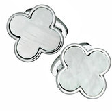 Jan Leslie Mother-of-Pearl Clover Cuff Links