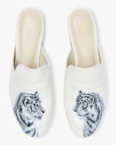Alepel Hand Painted Tiger Leather Mule
