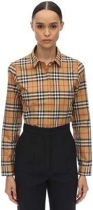 Burberry Loose Check Cotton Poplin Shirt