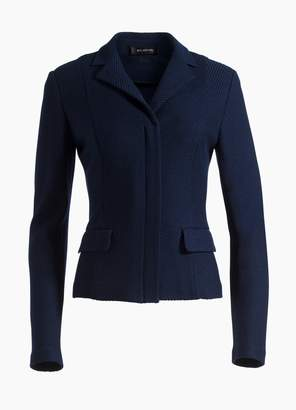 St. John Sarga Knit Twill Collar Jacket