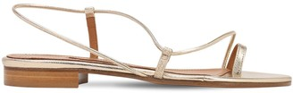 Emme Parsons 10mm Susan Metallic Leather Thong Slides