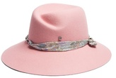 Maison Michel Rose rabbit-fur felt hat