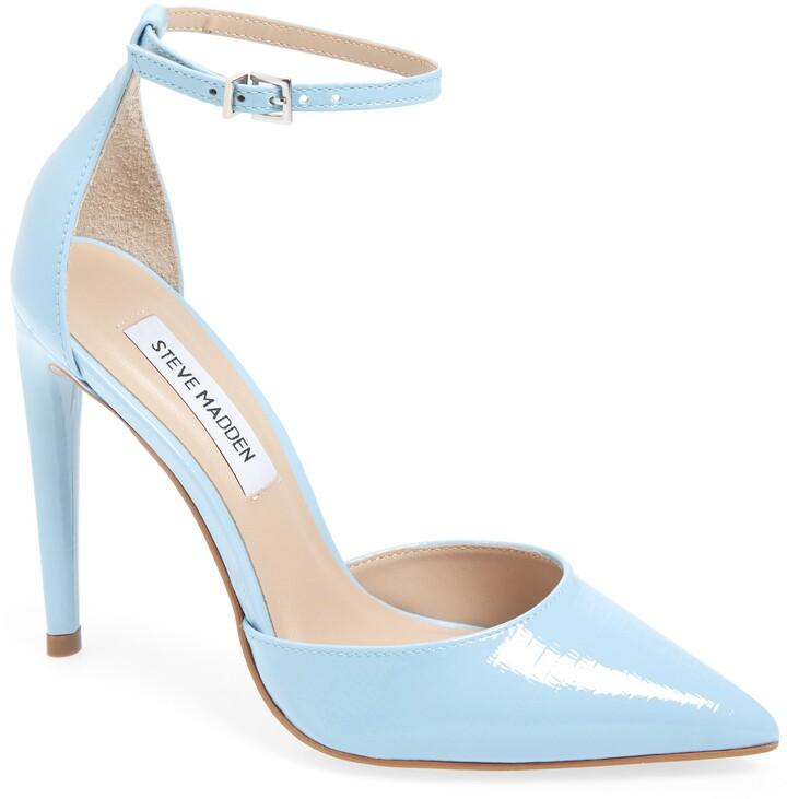 blue heels steve madden