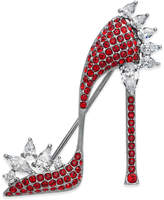 Danori Silver-Tone Pave High Heel Pin, Created for Macy's